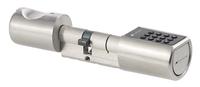Elektronischer Tür-Schliesszylinder mit bis zu 12-stelligem Zahlen-Code und optionalem Transponder-Schlüssel