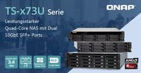 QNAP erweitert mit der TS-x73U-Serie sein NAS Portfolio mit AMD Prozessor