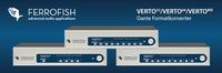 Audio-over-IP: Ferrofish VERTO Formatkonverter-Serie integriert ADAT und MADI in DANTE-Netzwerke