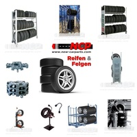 Montagezubehör und Lagerregale für Reifen aus einer Hand