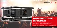 publitec mit neuen Projektoren-Flugrahmen  Panasonic kompatibel und DGUV 17 zertifiziert