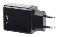 revolt 230-V-USB-Netzteil, Quick Charge 3.0, 3,6-12 Volt