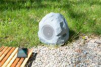 auvisio Garten- und Outdoor-Lautsprecher im Stein-Design