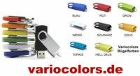 VarioColors USB-Sticks in Wunschfarben für Urlaubs- und Hochzeitsvideos