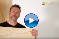 Flexible Sandstein Fliesen als Wandverkleidung