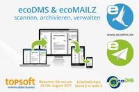 ecoDMS präsentiert Archivsysteme ecoDMS und ecoMAILZ auf der topsoft