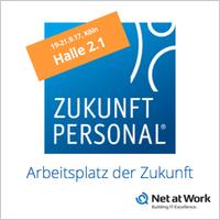Net at Work präsentiert das Office der Zukunft auf der Zukunft Personal