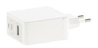 revolt Reise-Mini-USB-C-Netzteil, Quick Charge 3, 2-Pot