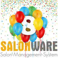 Zum achten Geburtstag von SALONWARE: Kassensystem für Friseure mit neuem Styling