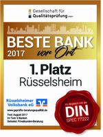 Rüsselsheimer Volksbank: Beste Bank vor Ort