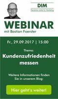 """DIM: Live-Webinar """"Kundenzufriedenheit messen"""""""