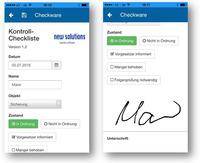 Checkware App im App Store und im Google Play Store verfügbar