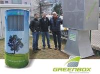"""Die """"Grüne Box"""" senkt die Feinstaubbelastung, reine Luft durch Filtertechnik"""