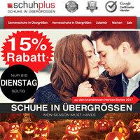 Halloween und Reformationstag: Gutschein bei schuhplus - Schuhe in Übergrößen