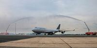 United Airlines verabschiedet den letzten Boeing 747-Flug in Frankfurt