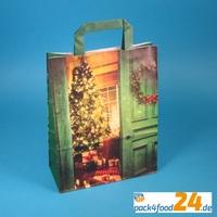 Umweltfreundliche Papiertragetaschen mit weihnachtlichen Motiven
