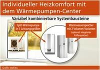 Individueller Heizkomfort mit dem Wärmepumpen-Center