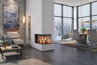 Volle Sicht auf die Flammen: Das Lagerfeuer im Wohnzimmer