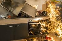 Jeder fünfte Brand in Wohnhäusern entsteht auf dem Küchenherd