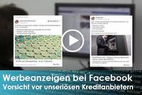 Gefährliche Werbung - unseriöse Kreditanbieter bei Facebook
