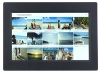 Somikon WLAN-Bilderrahmen mit weltweitem Bild-Upload