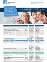 Neues Trainingsprogramm 2018 - jetzt erhältlich