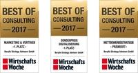 Drei Best of Consulting Awards für Berylls