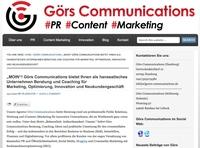 M.O.I.N.! Görs Communications bietet als hanseatisches Unternehmen Beratung und Coaching für Marketing, Optimierung, Innovation und Neukundengeschäft