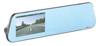 NavGear HD-Rückspiegel-Dashcam mit Rückfahrkamera