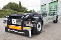 Hüffermann Transportsyteme neuer Schlittenanhänger ist Erfolgsprodukt