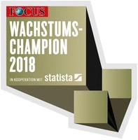 Hexad GmbH steigt von 65 auf 11 im Wachstumschampions 2018 Ranking des Focus Magazins