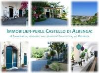 Immobilien-Perle Castello di Albenga: 18-Zimmer-Villa mit 50.000 m2 Grundstück zum unschlagbar günstigen Preis