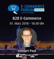 E-Commerce Forum Karlsruhe mit B2B Insider Lennart Paul