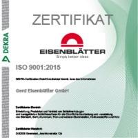 Geretsried 2018: Gerd EISENBLÄTTER GmbH nach neuesten ISO-Standard zertifiziert
