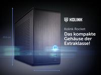 Jetzt bei Caseking - Das hochwertige Mini-ITX-Gehäuse Rocket von Kolink mit perfekter Raumnutzung & durchdachtem Kühlkonzept.