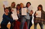 Humortrainer- 6 Absolventen erhalten Zertifikat