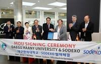 Sodexo und die Daegu Haany Universität aus Südkorea intensivieren Zusammenarbeit