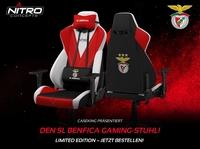 BRANDNEU bei Caseking – Der Nitro Concepts S300 Gaming-Stuhl in der offiziellen Benfica Lissabon Special Edition.
