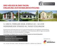 Einladung zur Rohbaubesichtigung - HVO Massivhaus zeigt 3 Häuser in 2 Tagen