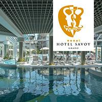 """Hotel Savoy Grado - Auf der Sonneninsel. Dort wo Italien noch zuhause ist oder """"Das Strandbad  der Donaumonarchie""""."""