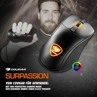 showimage NEU bei Caseking - Die Cougar Surpassion Gaming-Maus mit dem entscheidenden Vorteil.