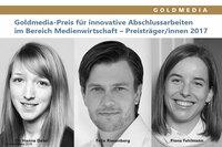 Goldmedia vergibt Preis für Abschlussarbeiten im Bereich Medienwirtschaft