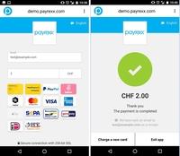 Payrexx: Die erste Kreditkartenterminal-App für Android Mobiltelefone und Tablets