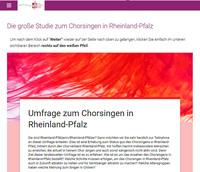 showimage Chorverband Rheinland-Pfalz startet landesweite Umfrage zum Chorsingen
