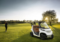 Garia Golf Car inspired by Mercedes-Benz Style.