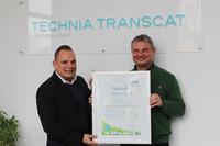 CSR-Urkunde für nachhaltiges unternehmerisches Handeln für TechniaTranscat