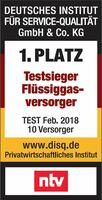Knauber als bester Flüssiggasversorger ausgezeichnet