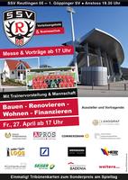 SSV Reutlingen: Messe rund ums Haus, wegen Spielabsage mit neuem Termin am 27. April