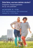 Vortragsveranstaltung Lipödeme, Lymphödeme am 24. März in Moers