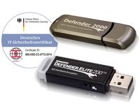 DSGVO: mit BSI zertifizierten hardwareverschlüsselten USB-Sticks Elite200 von Kanguru sensible Daten sicher speichern